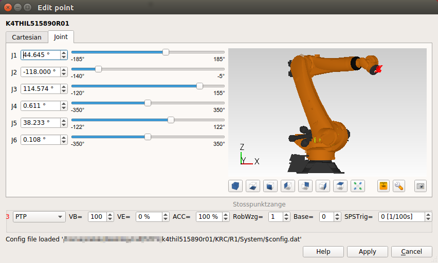 Kuka 3D Viewer & Point Editor
